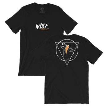 Wulf & Supply ICON WULF DOUBLESIDED TEE, BLACK