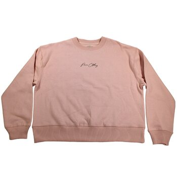 Paine Clothing Signature Dropped Shoulder College, Misty Pink