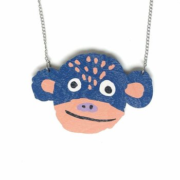 Crazy Granny Designs Monkey Necklace - Magic Animal Collection
