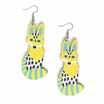 Crazy Granny Designs Fox Earrings - Magic Animal collection