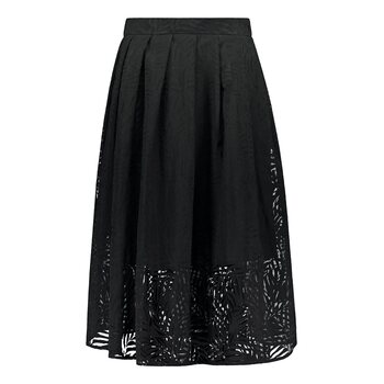 UHANA Flux Skirt, Devoré Black
