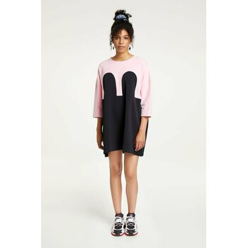 R/H Studio Mickey Square Dress, Baby Pink / Black, One Size