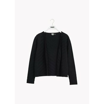 Papu Design SHORT KNIT CARDIGAN, Black structure