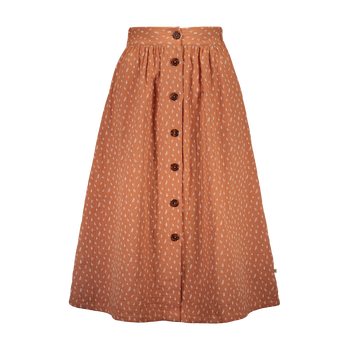 Kaiko Clothing Button Skirt, Vintage Leaf Tawny