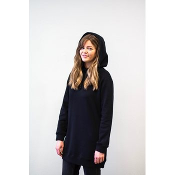 MORICO Hoodie Dress, Black