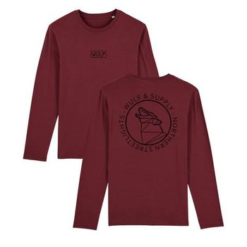 Wulf & Supply Northern Heritage Double Sided Long Sleeve, Burgundy