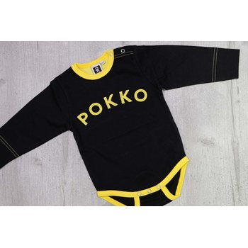 POKKO Vauvan body, Black & yellow 501-78