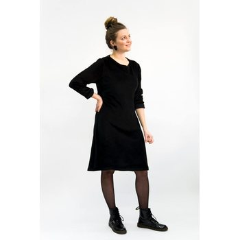 Mori Collective Ariel Dress w. Sleeves, black