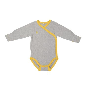 POKKO Vauvan body, Grey & yellow 601-98
