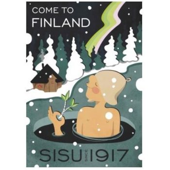 Come To Finland Sisu since 1917, 50 x 70 cm