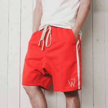 Wulf & Supply W Shorts, Red