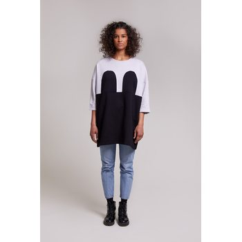 R/H Studio Mickey Square Mekko, Light Grey/Black