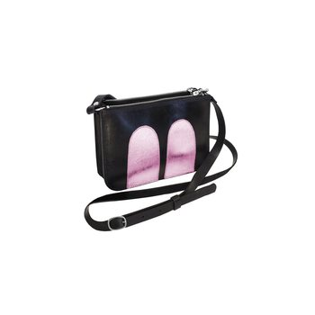 R/H Studio Mickey Handbag, Black / Shiny Pink
