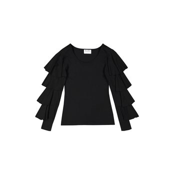 R/H Studio Blues Blouse Bambu, Black