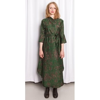 MUKA VA Kiia Dress, Pine Satin, One Size