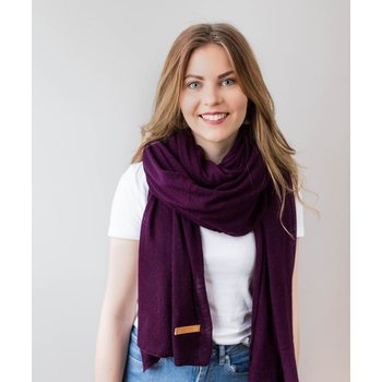Store of Hope Large Knitted Cashmere Scarf, Orchid