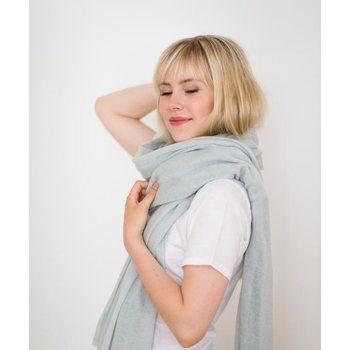 Store of Hope Large Knitted Cashmere Scarf, Salvia