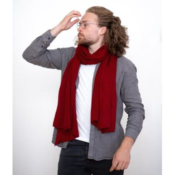 Store of Hope Medium Knitted Cashmere Scarf, Ruby