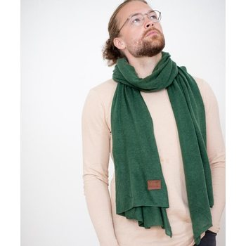 Store of Hope Medium Knitted Cashmere Scarf, Forest Green