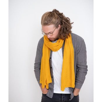 Store of Hope Medium Knitted Cashmere Scarf, Saffron