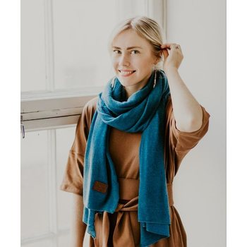 Store of Hope Large Knitted Cashmere Scarf, River