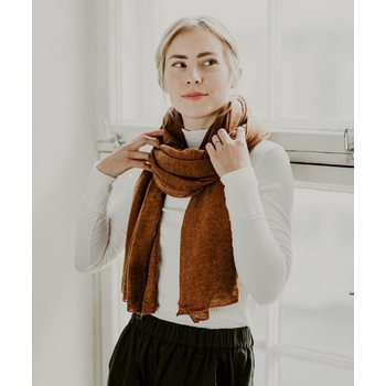 Store of Hope Large Knitted Cashmere Scarf, Carob