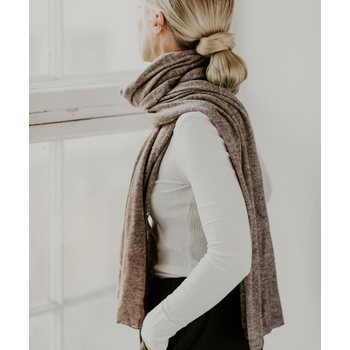 Store of Hope Large Knitted Cashmere Scarf, Natural Sand