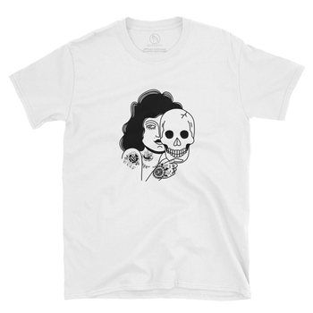 Wulf & Supply BEAST BEHIND THE PRETTY FACE TEE, WHITE