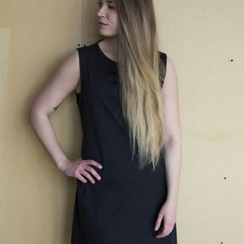 Mori Collective Ariel Midi Dress, Black