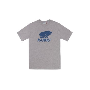 Karhu Basic Logo T-Shirt, Heather Grey / Navy