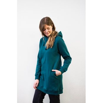Mori Collective Hoodie Dress, Ocean Green