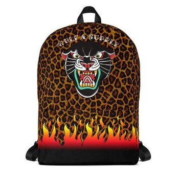 Wulf & Supply BLACK LEOPARD BACKPACK