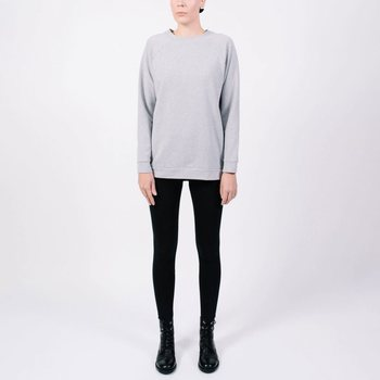 YO ZEN Unisex Architect Sweater, Grey Melange