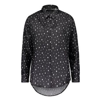 Uhana Design Charming Shirt, Drops Black