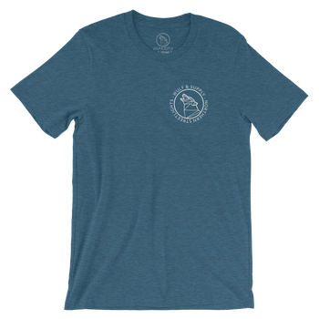 Wulf & Supply Northern Streetlight T-shirt, Teal