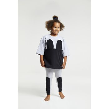 R/H Studio Kid's Mickey Square Dress, Light Grey / Black
