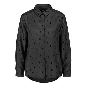 Uhana Design Charming Shirt, Velvet Drop Black