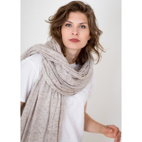 Store of Hope Large Knitted Cashmere Scarf, Light Sand