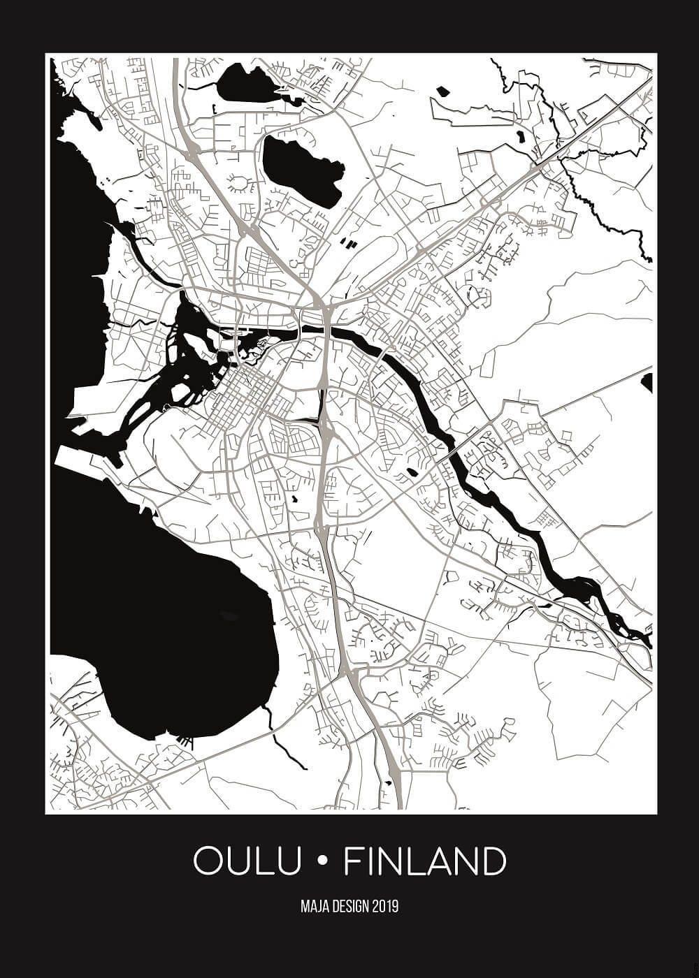 Oulu Karttajuliste Vain 24 95